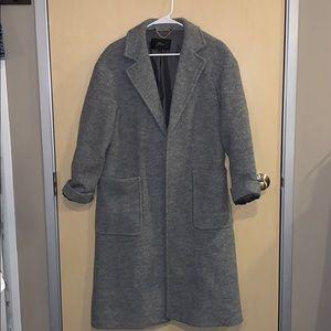 J. Crew Gray Open Wool Coat